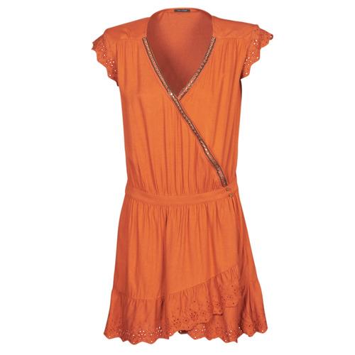 Clothing Women Short Dresses Ikks BQ30155-75 Orange