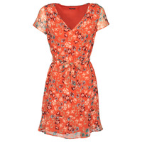 Clothing Women Short Dresses Ikks BQ30275-37 Orange