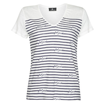 Clothing Women Short-sleeved t-shirts One Step MARISOL White / Marine