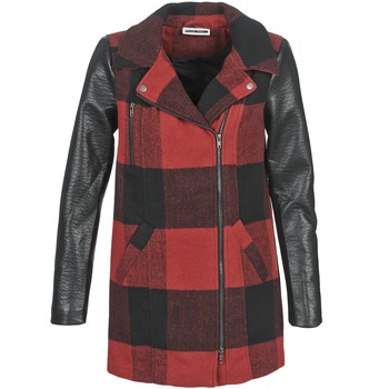 Clothing Women coats Noisy May TEXAS Red / Black