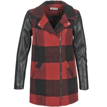 Clothing Women coats Noisy May TEXAS Red / Black