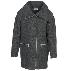 Clothing Women Coats Noisy May ROUND Grey / Black