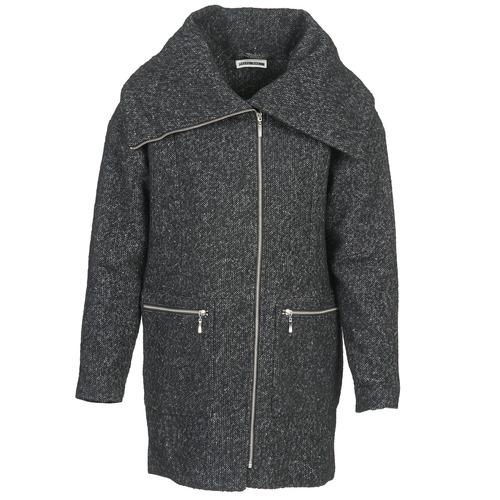 Clothing Women coats Noisy May ROUND Grey / Black