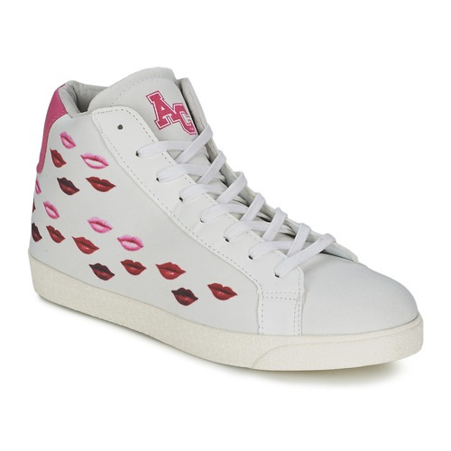 Shoes Women Hi top trainers American College KISS KISS White / Red