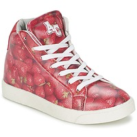 Shoes Girl Hi top trainers American College RED Red