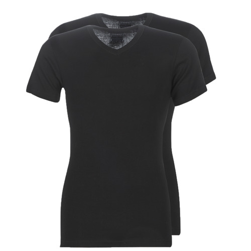 Clothing Men short-sleeved t-shirts Athena T SHIRT COL V Black