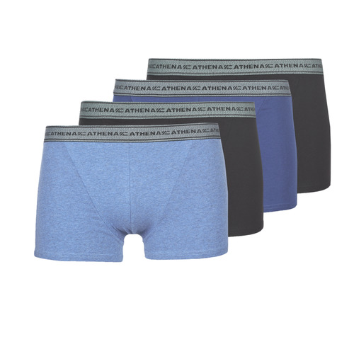 Underwear Men Boxer shorts Athena BASIC COTON Blue / Black / Blue / Black