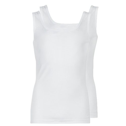 Clothing Men Tops / Sleeveless T-shirts Athena COTON BIO White