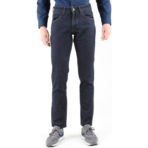 Clothing Men Straight jeans Wrangler Greensborg W15QBR77S Navy blue