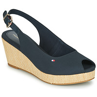 Shoes Women Sandals Tommy Hilfiger ICONIC ELBA SLING BACK WEDGE Navy