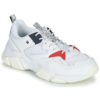 Shoes Women Low top trainers Tommy Hilfiger WMN CHUNKY MIXED TEXTILE TRAINER White / Red / Navy
