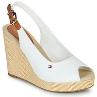Shoes Women Sandals Tommy Hilfiger ICONIC ELENA SLING BACK WEDGE White