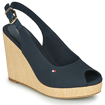 Shoes Women Sandals Tommy Hilfiger ICONIC ELENA SLING BACK WEDGE Navy