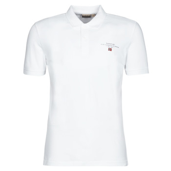 Clothing Men short-sleeved polo shirts Napapijri ELBAS 3 White
