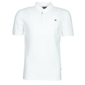 Clothing Men short-sleeved polo shirts Napapijri EOLANOS White