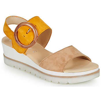 Shoes Women Sandals Gabor KOKREM Beige / Yellow