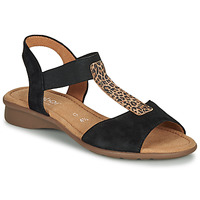 Shoes Women Sandals Gabor KOUALE Black / Leopard