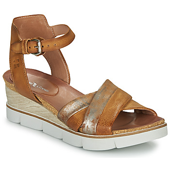 Shoes Women Sandals Dream in Green MARZI Cognac