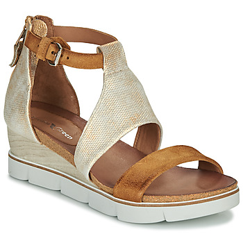 Shoes Women Sandals Dream in Green MARLEY Camel / Gold