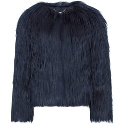 Clothing Women coats Anastasia Black Dawn Luxe Faux Mongolian Faux Fur Jacket Black