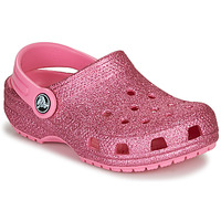 Shoes Children Clogs Crocs CLASSIC GLITTER CLOG K Pink / Glitter