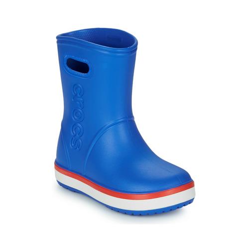 Shoes Children Wellington boots Crocs CROCBAND RAIN BOOT K Blue / Red
