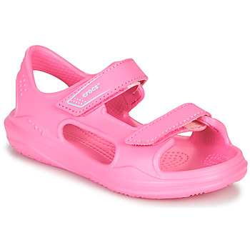 Shoes Girl Outdoor sandals Crocs SWIFTWATER EXPEDITION SANDAL K Pink