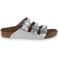 Shoes Children Mules Birkenstock Florida Kids Silver