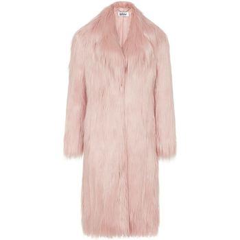 Clothing Women Coats Anastasia Kristie Grey Luxe Faux Mongolian Faux Fur Coat Grey