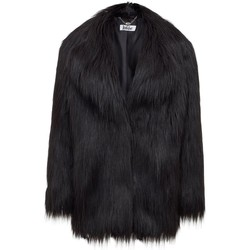 Clothing Women coats Anastasia Black Heather Luxe Faux Mongolian Faux Fur Jacket Black