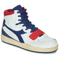 Shoes Men Hi top trainers Diadora MI BASKET USED White / Blue / Red