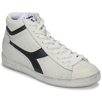 Shoes Hi top trainers Diadora GAME L HIGH WAXED White / Black