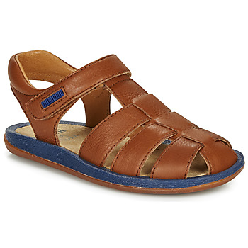 Shoes Children Sandals Camper BICHO Brown / Marine