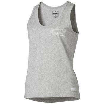 Clothing Women Tops / Sleeveless T-shirts Puma Athletics Tank W Grey