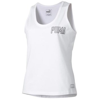 Clothing Women Tops / Sleeveless T-shirts Puma Athletics Tank White