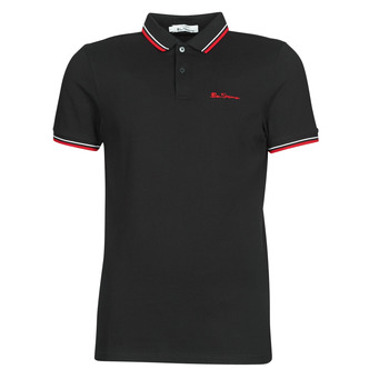 Clothing Men Short-sleeved polo shirts Ben Sherman SIGNATURE POLO Black / Red / White