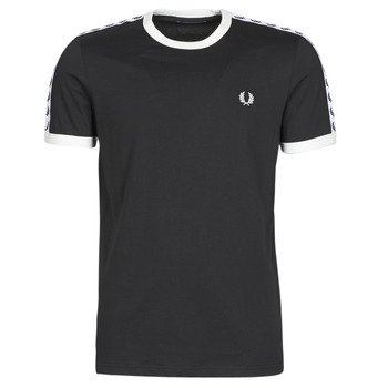 Clothing Men Short-sleeved t-shirts Fred Perry TAPED RINGER T-SHIRT Black