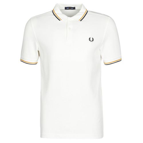 Clothing Men Short-sleeved polo shirts Fred Perry TWIN TIPPED FRED PERRY SHIRT White