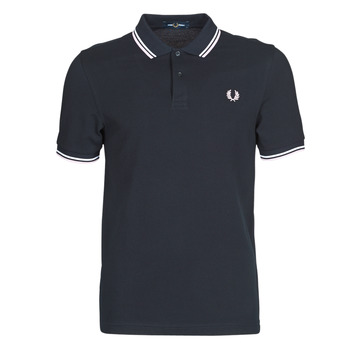 Clothing Men short-sleeved polo shirts Fred Perry TWIN TIPPED FRED PERRY SHIRT Blue / White