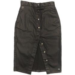 Clothing Women Skirts Lois Jupe Noir Boutons Falda Denim 999 Black