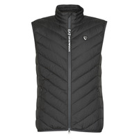 Clothing Men Duffel coats Emporio Armani EA7 TRAIN CORE SHIELD M DOWN LIGHT VEST Black
