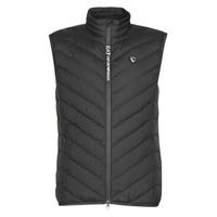 Clothing Men Duffel coats Emporio Armani EA7 TRAIN CORE SHIELD M DOWN LIGHT VEST Black