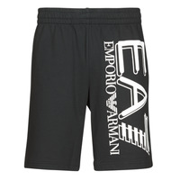 Clothing Men Shorts / Bermudas Emporio Armani EA7 TRAIN LOGO SERIES M OVERSIZE LOGO BERMUDA Black