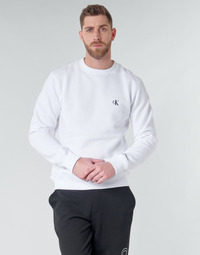 Clothing Men Sweaters Calvin Klein Jeans CK ESSENTIAL REG CN White