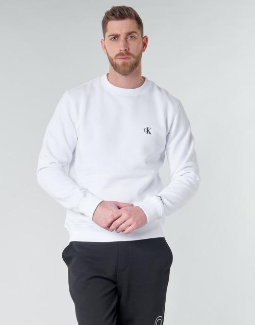 Clothing Men Sweaters Calvin Klein Jeans CK ESSENTIAL REG CN White