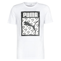 Clothing Men Short-sleeved t-shirts Puma LOGO TEE LOGO FILL Black