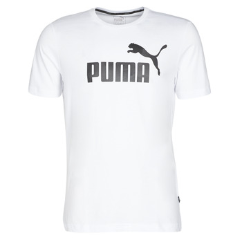 Clothing Men short-sleeved t-shirts Puma ESSENTIAL TEE White