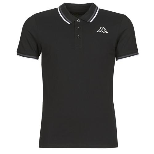 Clothing Men Short-sleeved polo shirts Kappa ESMO Black