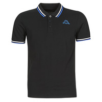 Clothing Men short-sleeved polo shirts Kappa ESMO Black / White / Blue