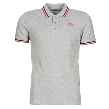 Clothing Men short-sleeved polo shirts Kappa ESMO Grey /  black / Red